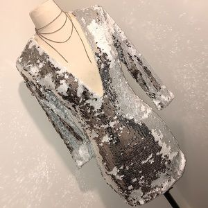 COLOR CHANGING SEQUIN DRESS